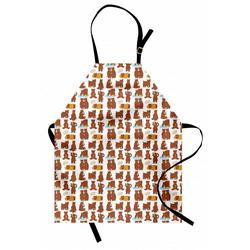Abakuhaus Kochschürze Höhenverstellbar Klare Farben ohne verblassen, Lustiger Bär Posing Lustige Charaktere