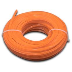 vhbw Mähfaden Trimmerfaden mit 3mm Durchmesser passend für Rasentrimmer Motorsense - 15 Meter, 4-eckig, Orange, Nylon - Rasentrimmerfaden Ersatzfade