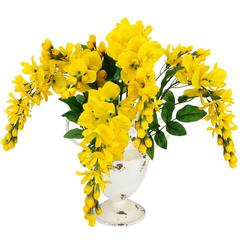 Kunstblume Goldregenbusch Goldregen, I.GE.A., Höhe 45 cm, im Antik-Pokal aus Metall gelb