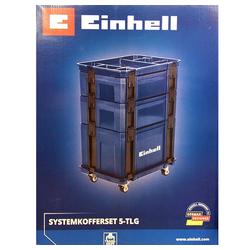 Einhell Werkzeugkoffer Einhell Systemkoffer-Set 5 tlg., Rollwagen Werkze