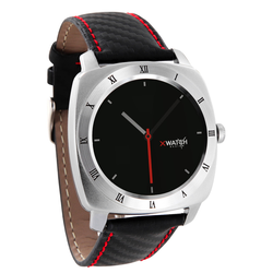 Xlyne Pro Smartwatch X-Watch Nara XW Silver Android IOS carbon red black