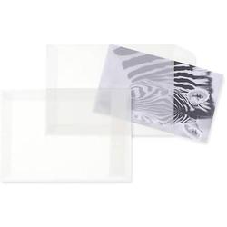 Versandtaschen Offset transparent C6 90g/qm HK VE=100 Stück weiß
