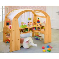 BioKinder - Das gesunde Kinderzimmer Kaufladen Anna, und Spielhaus natur