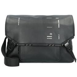 Piquadro Kyoto Messenger Leder 38 cm Laptopfach black