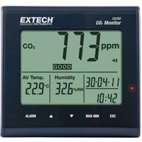 Extech CO100 Luftqualitäts-Messgerät, Anzeige von Kohlendioxid, Lufttemperatur, Luftfeuchtigkeit, 0 - 9999 ppm