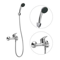 vidaXL Duscharmatur vidaXL Mischbatterie-Set für Badewanne mit Handbrause und Schlauch Set
