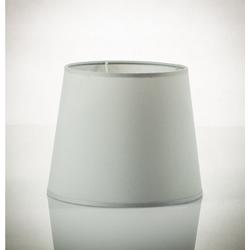 Licht-Erlebnisse Lampenschirm WILLOW Lampenschirm Stoff für Stehlampe Grau 30cm hoch Lampe