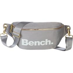 Bench. Gürteltasche OTI303K Bench stylische Hip Bag Polyester (Gürteltasche), Jugend, Damen Gürteltasche Nylon, grau ca. 25cm breit, großes Logo