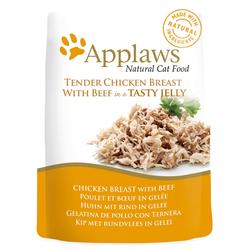 Applaws Hühnchenbrust und Rindfleisch in Jelly  Katzenfutter Nassfutter (0,07 kg)