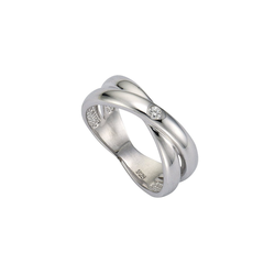CELESTA Ring 925/- Silber 1x Diamant weiß 18,5