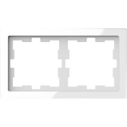 Merten MEG4020-6520, D-Life Glas Rahmen, 2fach, Kristallweiß