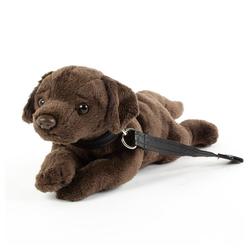 Teddys Rothenburg Kuscheltier (Hund Labrador 20 cm ohne Schwanz, Plüschgund mit Leine, Plüschtier, Stofftier, Stoffhunde, Labradore, Plüschlabrador)