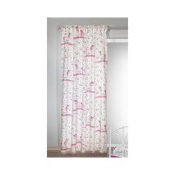 Vorhang Gardine Einhorn pink, 245 x 135 cm, Albani