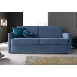 Places of Style Schlafsofa Goldpoint, mit echter Bonell-Federkern-Matratze, nach vorn ausklappbar blau