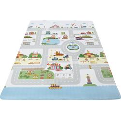 Andiamo Kinderteppich Spielmatte, rechteckig, 8 mm Höhe, Straßen-Spielteppich, abwischbar bunt Kinder Bunte Kinderteppiche Teppiche