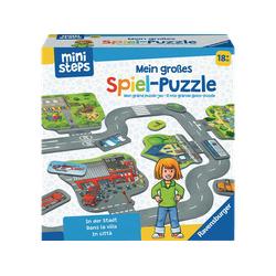 RAVENSBURGER Mein großes Spiel-Puzzle: In der Stadt Puzzle Mehrfarbig