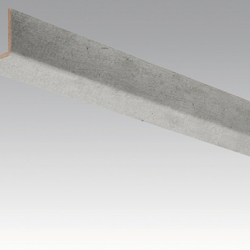 Meister Sockelleisten Winkelleisten Beton 4045 - 2380 x 33 x 3,5 mm -