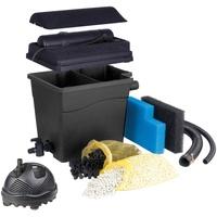 UBBINK Teichfilter Filtra Clear 4500 Plus (Set, Teichfilter (30 W); Teichpumpe (1.320 l/h); UVC-Gerät (5 W); 2 Filterschwämme; Filtermedien; Anschlussmaterial)