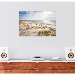 Posterlounge Wandbild, Strandkörbe am Sylter Strand 60 cm x 40 cm