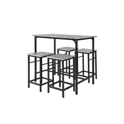 SoBuy Bartisch OGT11, Bartisch Set 5-teilig Esstisch Bistrotisch mit 4 Stühlen Sitzgruppe