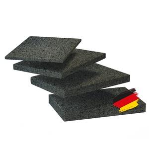 BAUHELD® Terrassenpads 90x60x 6mm [40 Stück] - Hochwertige Bautenschutzmatte aus Gummi-Granulat [Made in Germany] - Als Unterleg-Platten für Terrassenfliesen, Terrassen-Dielen, Garten und Balkon