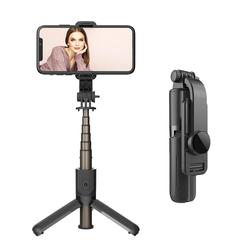 IVSO Bluetooth Selfie Stick Selfiestick Selfiestick (Bluetooth Selfiestick Stativ 3 in 1 Mini Selfie-Stange mit Bluetooth-Fernauslöse)
