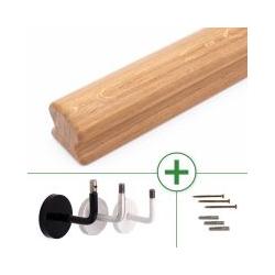 Holzhandlauf Eiche omega 50 x 55 mm, bis 595 cm Länge nach Maß