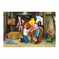 Schmidt Spiele Puzzle Bibi & Tina Puzzle-Box im Metallkoffer 4 Puzzle, 500 Puzzleteile