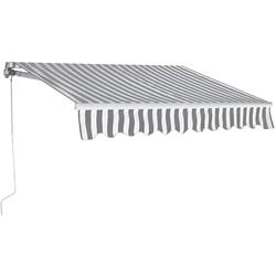 COSTWAY Markise Sonnenmarkise, Terrassenmarkise, Klemmmarkise 3 x 2,5 m, mit Kurbel, für Balkon und Veranda grau