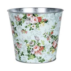 """esschert design Blumentopf Zink Blumentopf """"Rose"""", ca. Ø16 x H14 cm"""