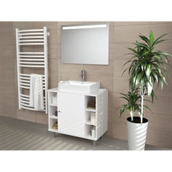 VICCO Waschbeckenunterschrank FYNN Weiß - Badmöbel Badschrank Unterschrank