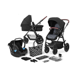 Kinderkraft Kombi-Kinderwagen Kinderwagen Xmoov, multifunktional, 3in1, denim schwarz