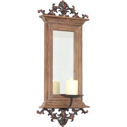 HOFMANN LIVING AND MORE Kerzenhalter, Maße (B/T/H): 26/15/56 cm braun Spiegel Wohnaccessoires Kerzenhalter