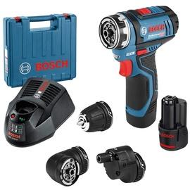 Bosch GSR 12V-15 FC Professional inkl. 1 x 2,0 Ah + Zubehör-Set (06019F600A)