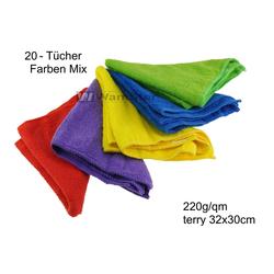 20 x WamSter ECO Mikrofasertuch Faben mix Poliertuch 32 x 30 cm 220g/qm