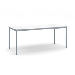 Esstisch, weiße platte 1800 x 800 mm, dunkelgrauer boden