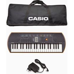 CASIO Keyboard Mini-Keyboard SA-76, (Set, Inkl. Netzteil und Tasche)