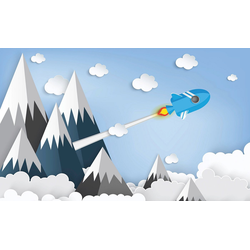 Consalnet Papiertapete Kindermotiv Berge, Comic 3,68 m x 2,54 m