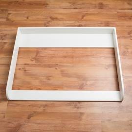 PuckDaddy Wickelaufsatz für Hemnes weiß 108 cm Extra Rundkante