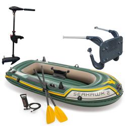 Intex Seahawk 2 Schlauchboot Set inkl. Außenbordmotor & Halterung