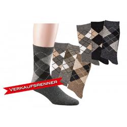 Socks 4 Fun Socken Alpaka Karo Socken (3-Paar) 35-38