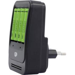 GP Batteries PB570 Rundzellen-Ladegerät inkl. Akkus NiMH Mignon (AA), Micro (AAA)