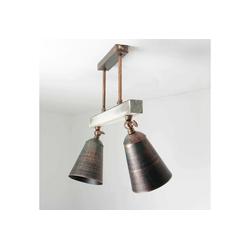 Licht-Erlebnisse Deckenstrahler ALEJO Deckenstrahler Metall Holz Grün Schwarz Spot Wohnzimmer Lampe