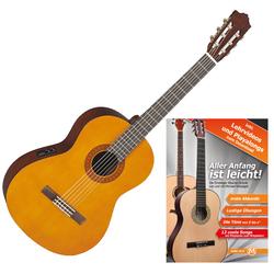 Yamaha CX40 Konzertgitarre mit Pickup inkl. Gitarrenschule Set