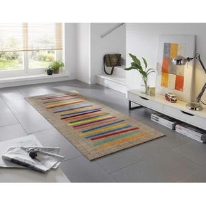wash+dry Fußmatte, Mixed Stripes 80x200 cm, innen und außen, waschbar