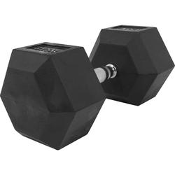 Hexagon Kurzhantel aus Gummi 37,5kg