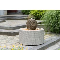 Ubbink Brunnenumrandung DecoWall Wicker 7, ØxH 72,5x38,5 cm, grau