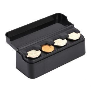 praktische Münzbox aus Plastik, Auto Münzspender Euro Münzenhalter,Euro-Münzsammler mit Schnell-Fixierung
