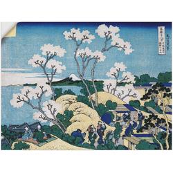 Wandbild »Fuji von Gotenyama in Shinagawa«, Bilder, 63582330-0 blau 80x60 cm blau