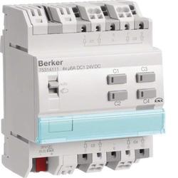 Berker KNX Jalousieaktor 4-fach 24V DC REG 75314111